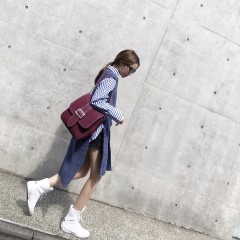 韩版秋百搭chic学生不规则外穿中长款马甲针织毛衣外套女